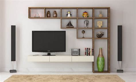 cool contemporary tv wall unit designs   living