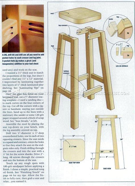 kitchen stool plans furniture plans