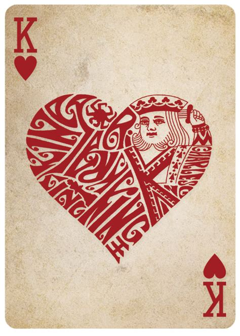 king of hearts card template different deck cards reinvented by teach by