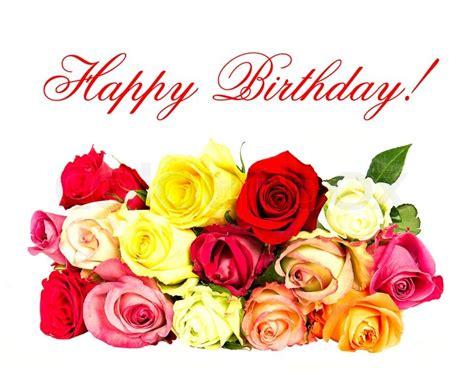 imagenes de flores happy birthday happy birthday colorful roses stock photo colourbox