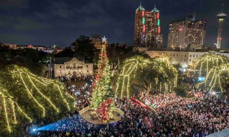 tree lighting san antonio river parade tree lighting take downtown s a friday
