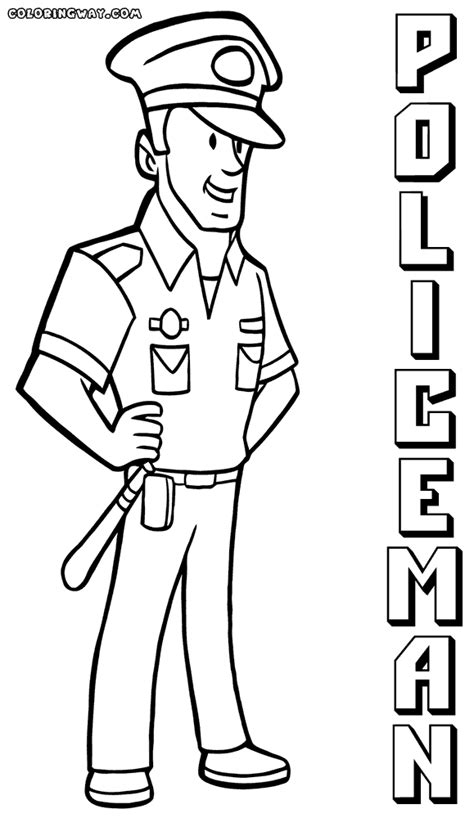 police officer coloring pages coloring pages to download