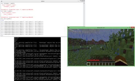 minecraft console rebuilding our jython console plugin for minecraft