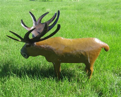 moose lawn ornament metal moose yard ornament lodge decor