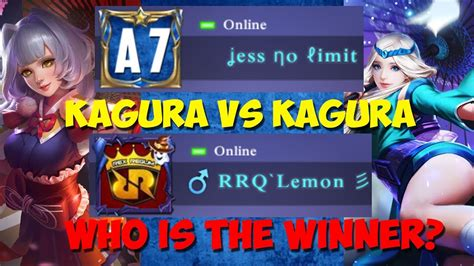 No Limit Vs Limit by Rrq Lemon Vs Jess No Limit 1 Vs 1 Kagura Guru Lawan