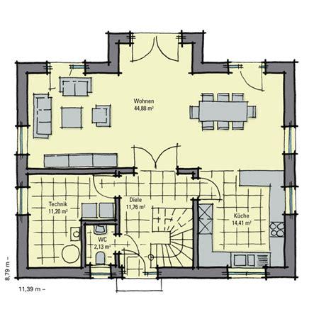 Grundriss Eg Einfamilienhaus by Einfamilienhaus Guenstig Bauen Birkenallee Variante 1