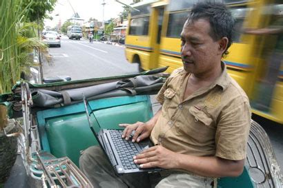 The Becak Way but not harry he prefers working on his laptop latitudes