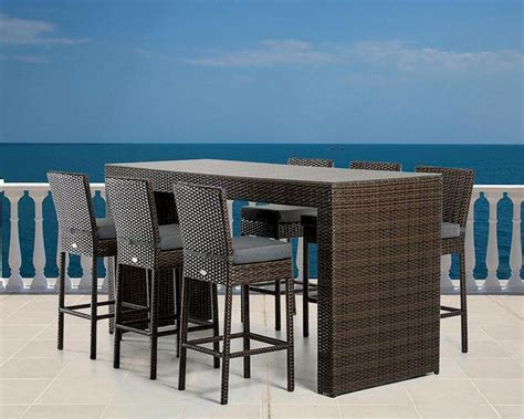 modern outdoor bar table set p set
