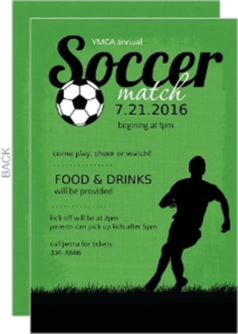 soccer invitation card templates custom soccer invitations and invites