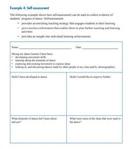Student Self Evaluation Templates self assessment 7 free sles exles format