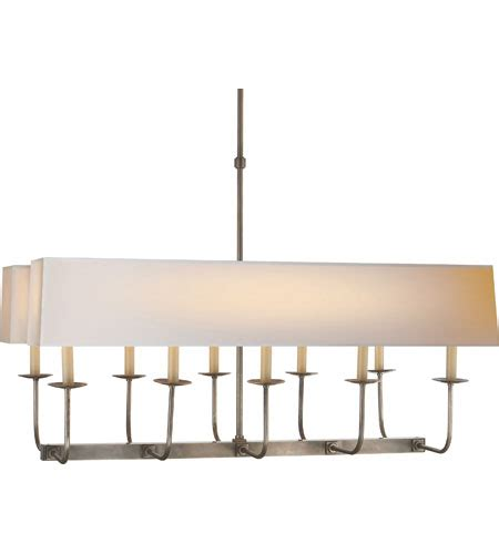 Visual Comfort Island Light Visual Comfort Sl5863an Np2 E F Chapman Linear Branched 10 Light 36 Inch Antique Nickel Linear