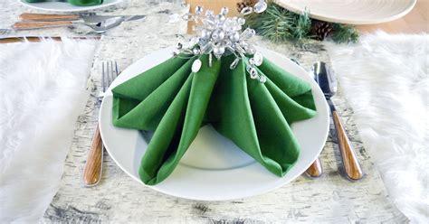 Pier One Table Runner Christmas Tree Napkin Folding Tutorial Popsugar Home