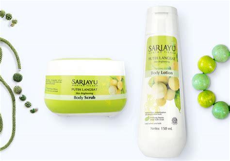 Scrub Sariayu review sariayu putih langsat scrub dan lotion