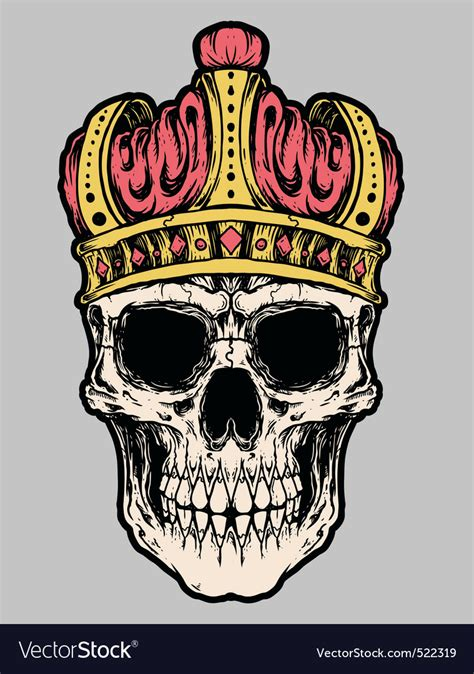 skull king crown vector royalty free vector image