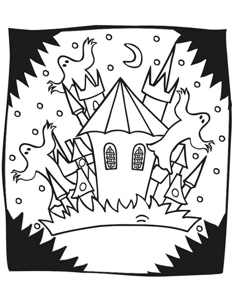 halloween coloring pages castle halloween coloring pages haunted house coloring home
