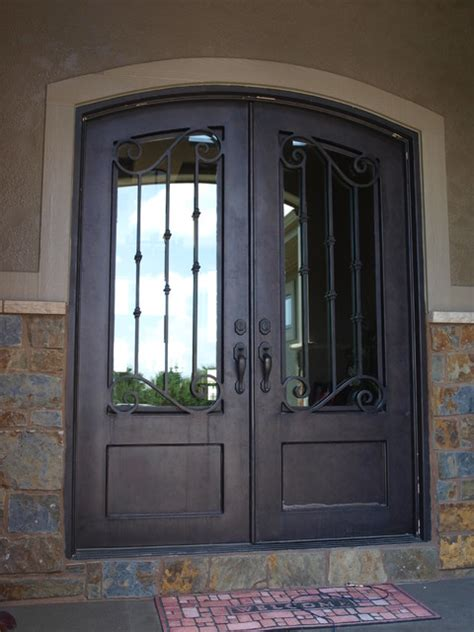 Houzz Exterior Doors 3 4 Lite Arch Top Door Front Doors Omaha By Midwest Iron Doors