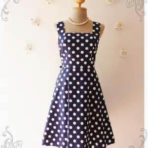 Retro Printing Dress M L Xl Navy Brown 30393 navy dress vintage inspired dress vintage style bridesmaid dress polka dot retro dress