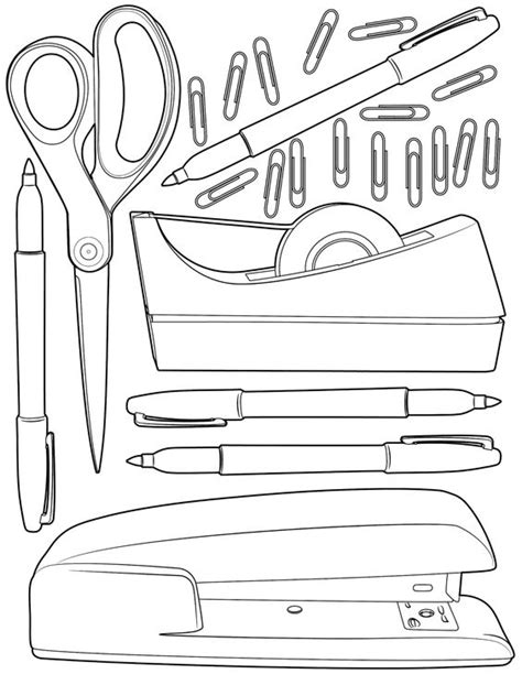 free coloring pages school supplies printable school supplies coloring pages free printable