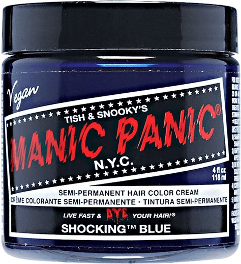 Manic Panic Lified Voodoo Blue Murah shocking blue manic panic semi permanent hair color sally