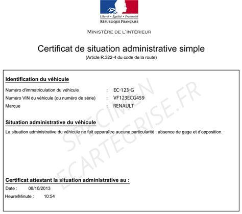 Modele De Lettre Administrative Pour La Prefecture Exemple D Un Certificat De Non Gage