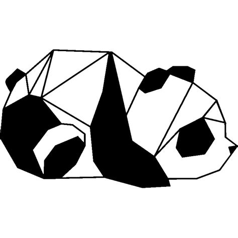 Wall Sticker World Map sticker panda en origami 2