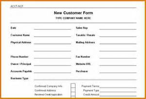 new customer template 11 new customer form template plantemplate info