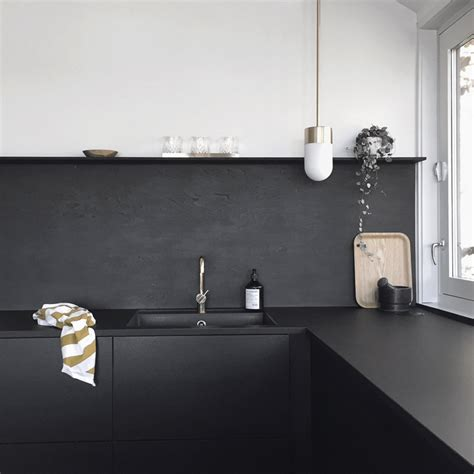 Matte Black Kitchen Faucet Brass Details In The Kitchen Stylizimo