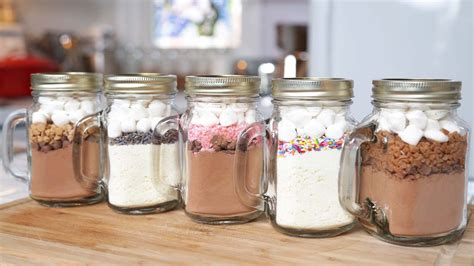 5 hot chocolate in a jar recipes edible gifts youtube