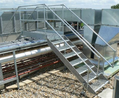 Access solutions for flat roofs, step overs & platforms