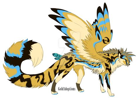 cute anime cat with wings drawings winged cheetah oc auction by taraviadopts on deviantart