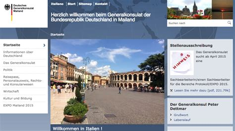 lavoro consolato offerta di lavoro il consolato tedesco di cerca