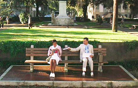 park bench movie forest gump chippewa square savannah michelle morton