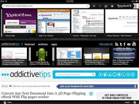 yahoo web browser yahoo axis web browser for iphone ipad available for