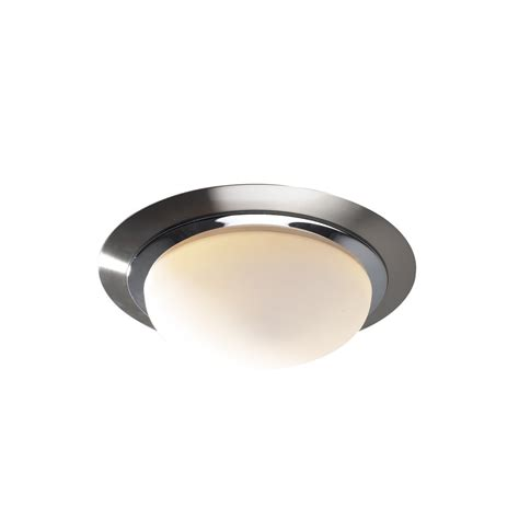 ravel circular chrome flush ceiling light