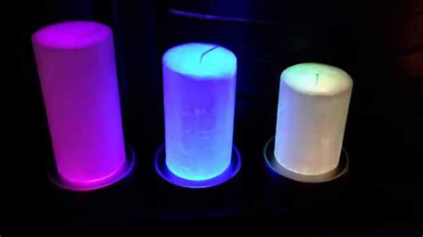 color changing candles disco candles colour changing candle bases