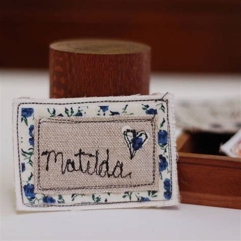 Handmade Name Badges - personalised handmade name badge by handmade at poshyarns