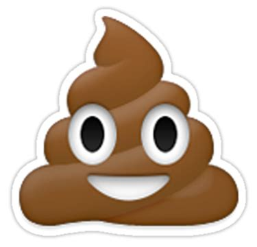 """emoji poo"" stickers by emoji    redbubble"