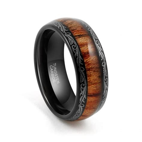 black tungsten mens wedding bands tungsten wedding band tungsten carbide tungsten ring 8mm