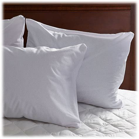 bed pillow covers zippered soft terry zippered pillow protectors lodgmate bedding