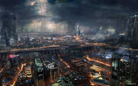 industrial wallpaper cyberpunk cityscape industrial wallpapers