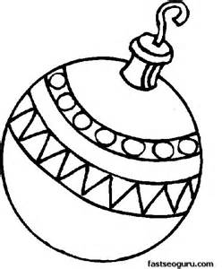 Baubles Templates To Colour by Printable A Bauble Decorating A Tree Coloring Page