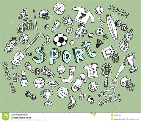 doodle sport doodle sports stock vector image 38958393