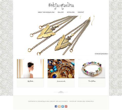 Handmade Websites - oohjacquelina jewelry accesories