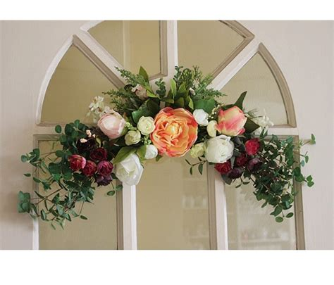 artificial flower for home decor 21 5 55cm fashion artificial flower door lintel mirror