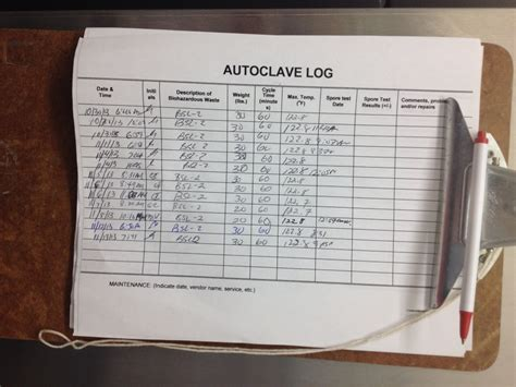 autoclave log template autoclave biohazardous waste