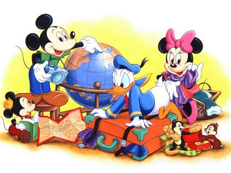 mickey mouse donald duck minnie mouse preparing   summer holiday wallpaper hd
