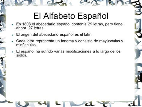 el significado de pattern en español origen del alfabeto espa 241 ol ppt descargar