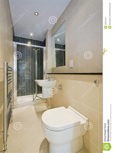 beige bathroom suite contemporary en suite bathroom in beige stock photography