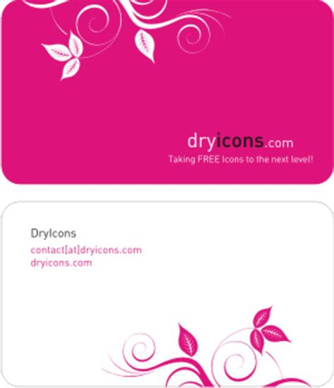 Free Business Card Templates Artwork by Dryicons Business Card Template Free Images At Clker