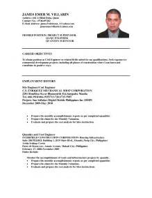 Cv Career Objective Sample Sample Resume Format Resume Free Download Template